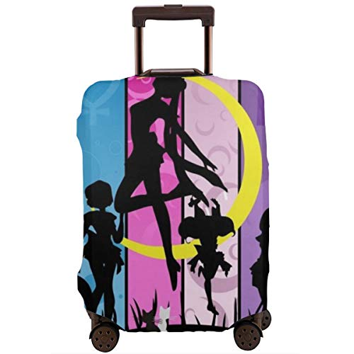 Anime Girl Sailor Moon Travel Luggage Cover Suitcase Protector Washable Baggage Luggage Covers Zipper Fits 22-24 Inch