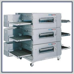 Gas Aga Oven - Lincoln Impinger Low Profile 1600 Series Ovens : Lincoln 1634-000-E LP Gas & 230V/1Ph/50Hz (NSF/AGA/CE)