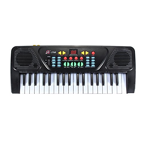 (DDgrin Kids Piano Keyboard, 37 Keys Dual-Speakers Piano for Kids LCD Screen Display Portable Keyboard Newest Piano Keyboards Music Educational Toy (Black))