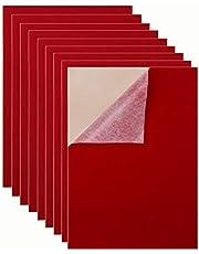 """Mesheshe 10PCS Self Adhesive Felt Fabric, Soft Velvet Drawer Liner, DIY Velvet Fabric for Art & Crafts, Jewelry Box Felt Liner, A4 Size (8.3"""" x 11.8"""")"""