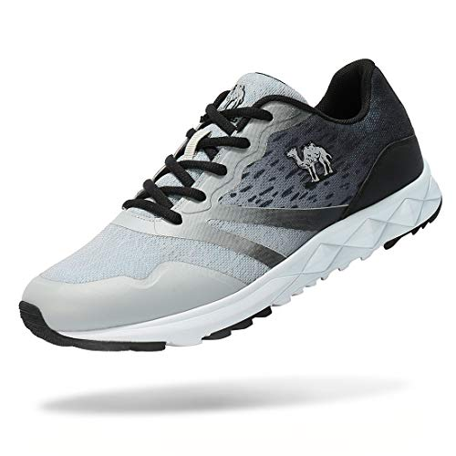 CAMEL CROWN Men's Running Shoes Lightweight Breathable Mesh Sneakers Outdoor Sport Shoes Color Grey Size 8