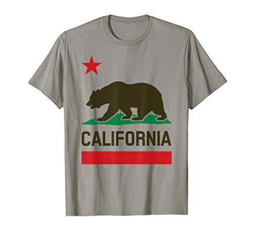 (California Republic T-shirt California Bear Vintage Tee)