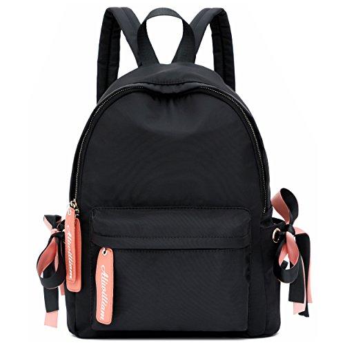 Ali Victory Basic Backpack for Women Fashion Grils College School Shoulder Bag (Black)
