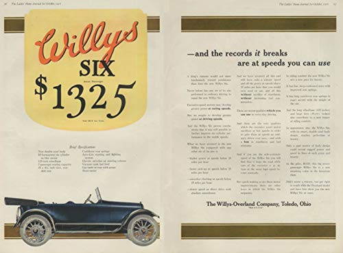 1917 WILLYS SIX MODEL 88-6 Seven Passenger TOURING CAR