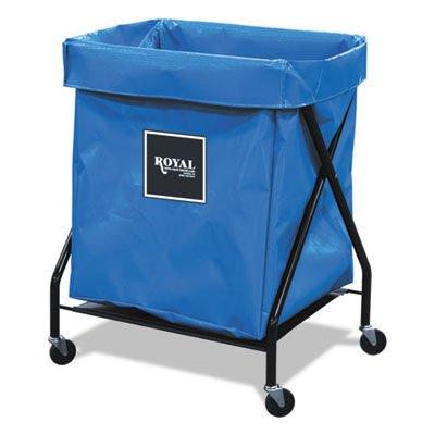 Bushel Vinyl Laundry Truck Cart (8 Bushel X-Frame Cart with Vinyl Bag, 21 x 26 x 36, 150 lbs. Capacity, Blue, Sold as 1)