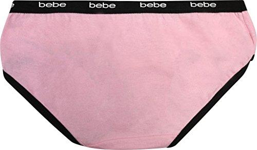 bebe Girls Hipster Bikini Underwear, Leopard, Small/7-8 (10 Pack) by bebe (Image #4)
