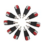 MonkeyJack 10 Pieces Speaker Cable To Audio Male RCA Connectors Adapter Jack Press Plug Connector For Multimedia