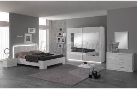 Chambre Adulte Complete Ancona I Laque Blanc Amazon Fr Cuisine Maison