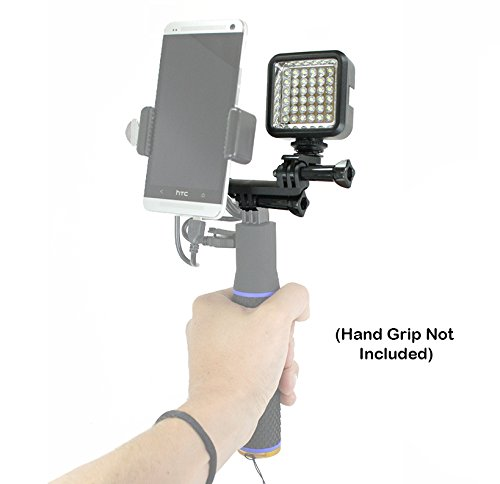 (Livestream Gear - LED & Dual Mount Add-On. Easily Mount This to Our Battery Hand Grip Setup. Awesome Parts for Streaming/Video with Any Phone. Also Works with Sport Cameras. (Dual LED Add-On))