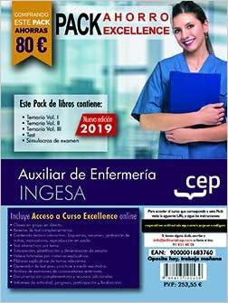 PACK AHORRO EXCELLENCE. Auxiliar de Enfermería. INGESA. Incluye Temario Vol.I, II y III, Test y Simulacros y Curso Excellence Online 6 meses: Amazon.es: CEP: Libros