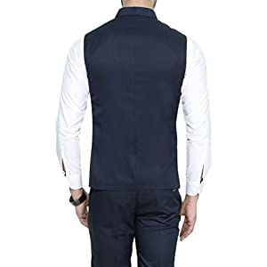 MANQ Men's Band Collar Slim Fit Formal/Party Waist Coat
