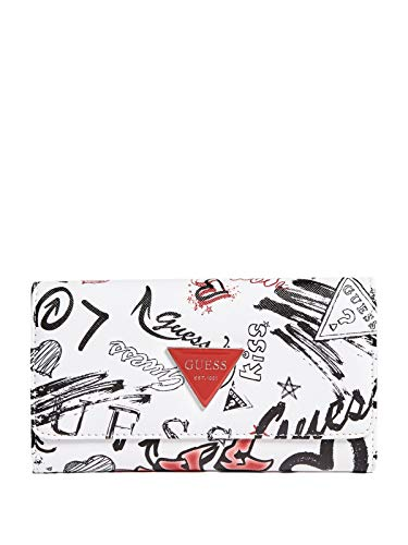 GUESS Factory Women's Abree Floral Slim Wallet