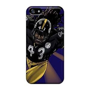 Iphone 5/5s Pittsburgh Steelers Print High Quality Tpu Gel Frame Cases Covers