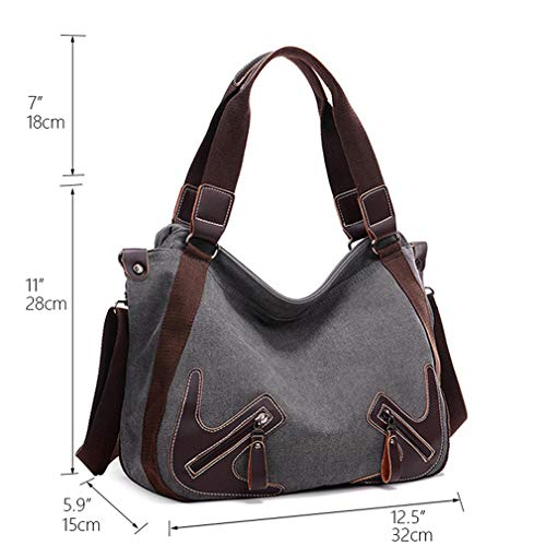 Bag Ganabag Uses Bag Canvas Daily Women Blue Hobos Crossbody Shoulder Bags XnqTgZF1n