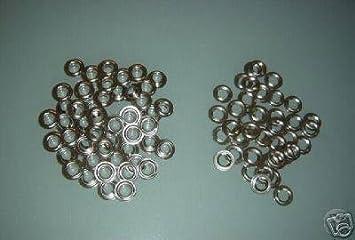 Ojales de acero inoxidable, (50 unidades, redondeados, 12mm ...