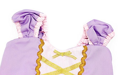 Cotrio Girls Princess Rapunzel Dress up Costume Halloween Cosplay Fancy Party Dresses Size 4T (110, Rapunzel Tutu Dress) by Cotrio (Image #3)