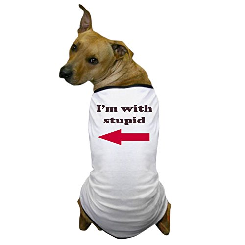 Best 1980's Costumes (CafePress - I'm With Stupid Dog T-Shirt - Dog T-Shirt, Pet Clothing, Funny Dog Costume)