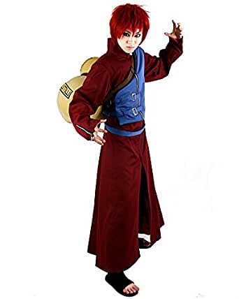 Miccostumes Men's Naruto Gaara Cosplay Costume Small Red