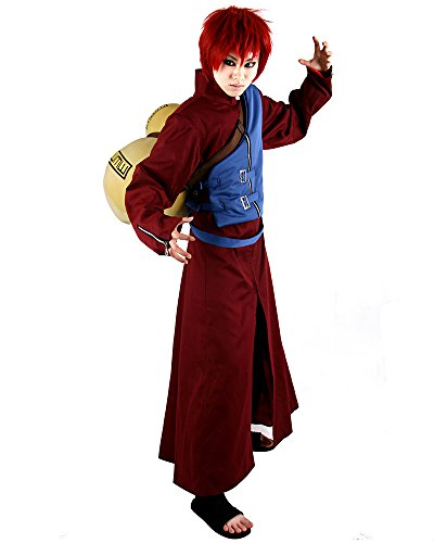 Miccostumes Men's Naruto Gaara Cosplay Costume Medium Red