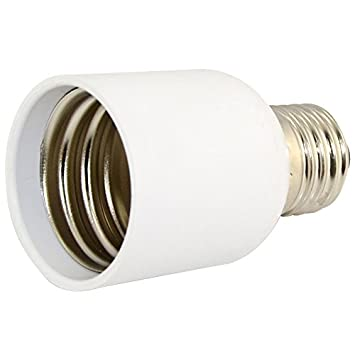 Light Bulb Screw Base: ES Light Bulb Socket E27 to E40 LED Base Screw Lamp Bulb Adapter Converter  White,Lighting