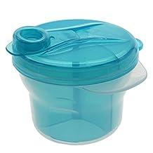 WEKA Rotating 3 Layers Infant Baby Milk Powder Feeding Container Bottle Box Dispenser Blue