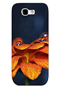 Crazinesswith Shock-dirt Proof Orange Daisy Case Cover Design For Galaxy Note 2 - Best Lovers' Gifts
