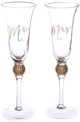 - Kate Aspen Rhinestone Toasting Flutes (Set of 2)