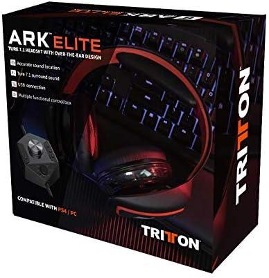 TRITTON — ARK Elite — Casque gaming RGB filaire Noir – 10 Haut-parleurs néodymes – Véritable son Surround 7.1 — Micro unidirectionnel – Boîtier de contrôle – Connecteur USB — Compatible PS4, PC, MAC - Actualités des Jeux Videos