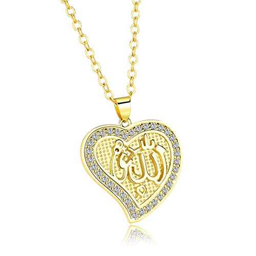 - V-Moni Hot Classic Supply Islamic Muslim Allah Allah Necklace Retro Moon Pendant Plated With 18K Gold