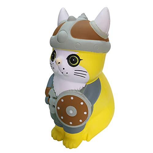 L.DONG Jumbo Squishies Pirate Cat, Super Soft Slow Rising Animal Squishy Toys Pet Cosplay Party Favor Decoration Toys Stress Relief Charms Gift Squeeze for Kids Adults