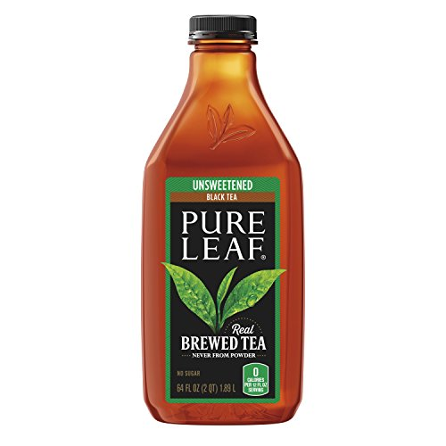 Pure Leaf Prepared Tea, Unsweetened Black Tea, 64 fl oz Plastic Bottle