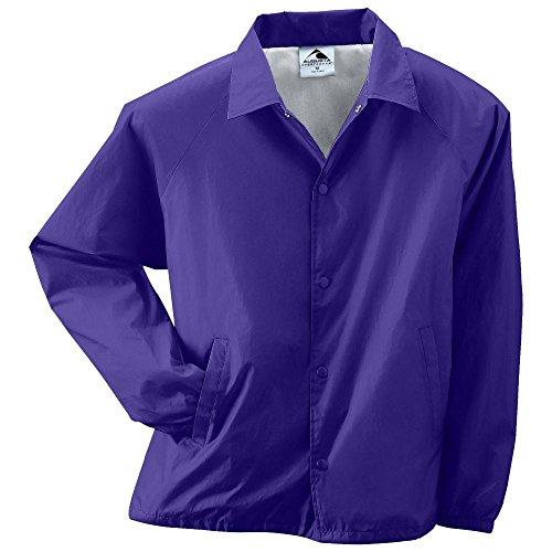 - Augusta Activewear Nylon Coach's Jacket/Lined, Purple, Large