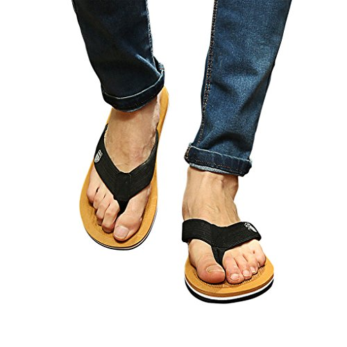 Fashion Mens Boys Beach Sandals Mules Summer Home Pool Antiskid Thong Cozy Slippers Sports Athletic Flip Flops Shoes Yellow eJBYS0