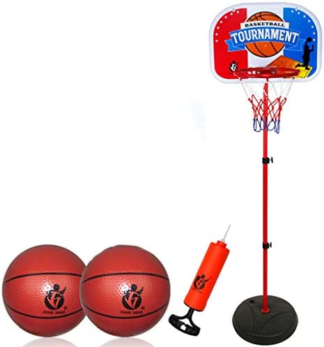子供のバスケットボールスタンド、屋内撮影バスケットボールのフレームを上げ、下げることができ、屋外の男の子のおもちゃ、鉄鉄枠、便利で速いです (Color : Red, Size : 1.7m)