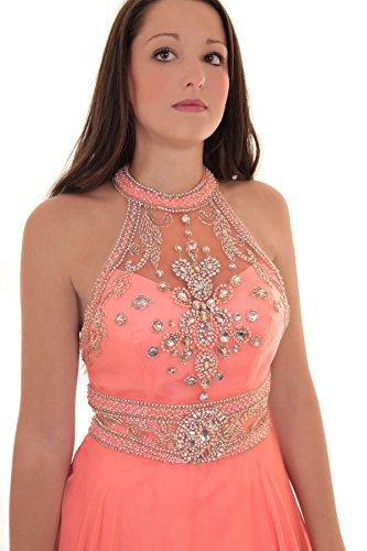Kleid koralle make up