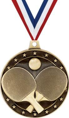 Gold Table Tennis Medals - 2
