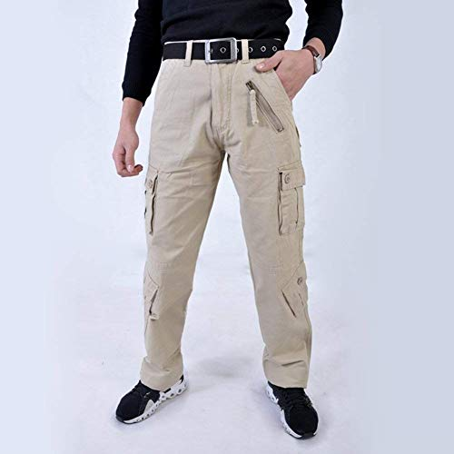 Carico Riscaldamento Pantaloni Uomo Casual Per Multipla Da All'aperto Ad Il In Pilota Falda Khaki A Lavoro Essenziale Acqua Cotone xtqYwtr