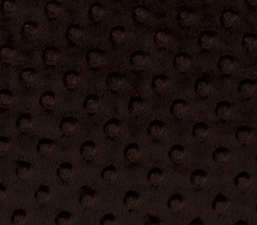 - Minky Fabric Dimple Dot Chocolate / 60
