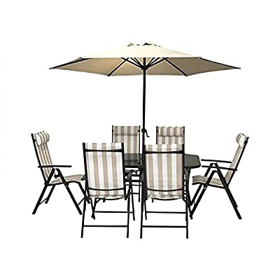 HECTARE Kennet Reclining Patio 6 Seater Dining Set