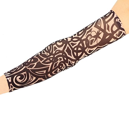 ECYC Colorful Superfine fiber Fake Temporary tattoo sleeve Art Arm stockings