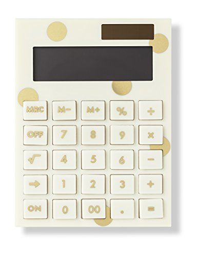 Kate Spade New York Acrylic Calculator, Gold Dot by Kate Spade New York