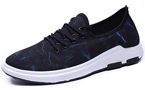 Un Peu De Chaussures Toile D'hommes Frais Baskets Freizetschuhe Mode Casual Bleu-i
