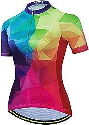 Aogda Cycling Jerseys Bike Team Biking Shirts Women's Bicycle Top Clot