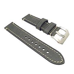 W&S 2-Piece Leather Watch Strap - Dark Green | 22mm