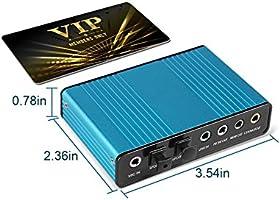 Amazon.com: valinks 6 canales Tarjeta de sonido externa 5.1 ...