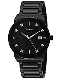 Bulova Mens 98D121 Dress Black Dial Watch