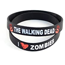 The Walking Dead Black Wristband I (Heart) Zombies - 2 Pack