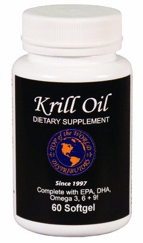 Top des produits naturels du monde, l'huile de krill, 500 mg, de 60 gélules