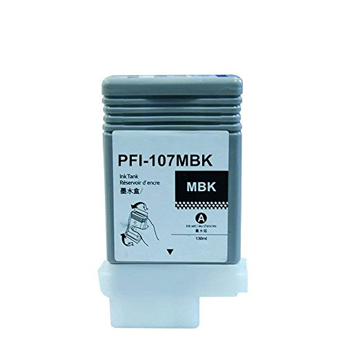 Aomya Matte Black Pigment Ink Cartridge Compatible for Canon PFI-107 PFI107 Ink Tank 130ml for Canon iPF670 iPF680 iPF685 iPF770 iPF780 Ipf785