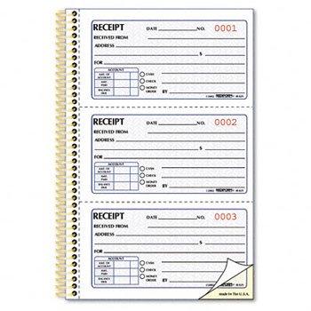 amazon com rediform gold standardtm carbonless money receipt book